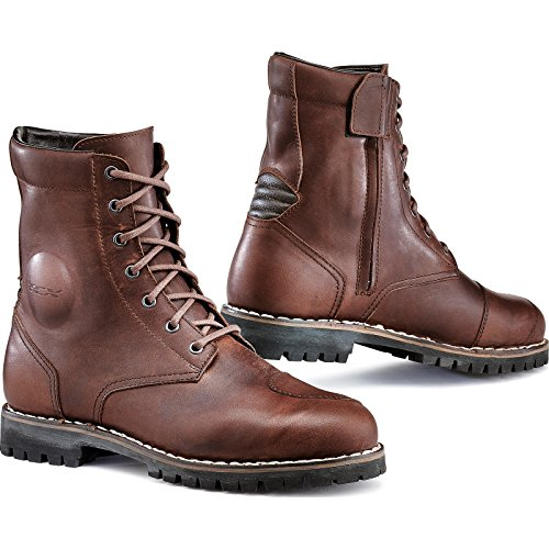 7295W - TCX Hero WP Leather Motorcycle Boots 39 Brown (UK 6) Leder Shift Boots