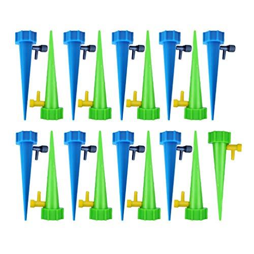 GladiolusA Automatisch Bewässerung Set,Einstellbar Bewässerungssystem Garten Zur Pflanzen Bewässerung Blumen Bewässerung Zimmerpflanze Bewässerung Reguläre Version 18Stück(9Blau 9Grün)