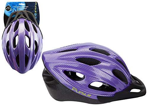 Shine Unisex Fahrradhelm, verstellbare leichte Fahrrad Fahrrad Mountain Road für Männer und Frauen (LILA KLEIN)