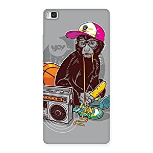 Enticing Monkey Music Back Case Cover for Huawei P8