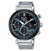 Pulsar heren chronograaf solar horloge met roestvrij stalen armband PZ5065X1