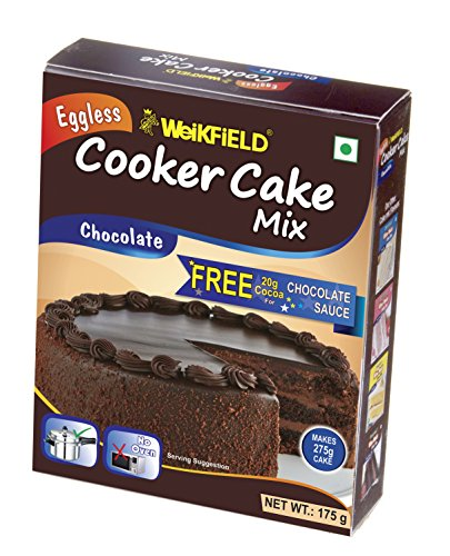 Weikfield Cooker Cake Mix, Chocolate, 175g with Cocoa Powder 20g Free