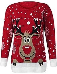 Red Olives® Womens Ladies XMAS Snowman Baggy Jumper CHRISTMAS Reindeer Penguin Sweater