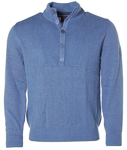 Stile KITARO lavorato a maglia Pullover - yacht Race- Blu