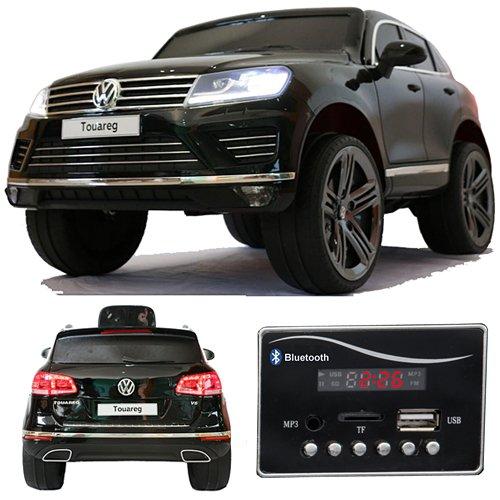 Volkswagen Touareg Bluetooth Soft Start Niño Infantil para coche vehículo niños elektroauto Blanco y Negro de color rojo