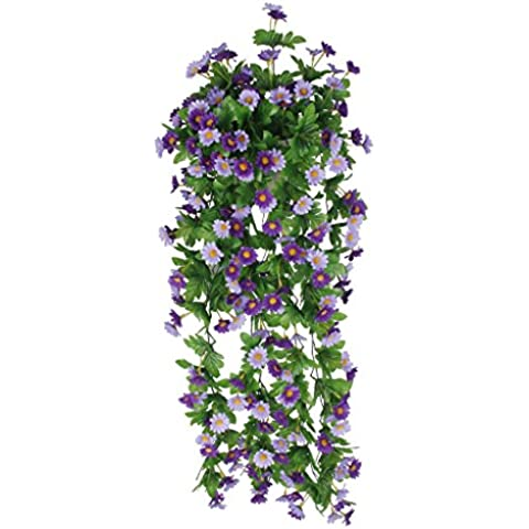 Vid de Flor Margarita Artificial Colgante Decoración para Boda Hogar -Azul