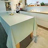 ANRO Tischdecke Wachstuch Wachstischdecke Wachstuchtischdecke abwaschbar Meergrün Minze Retro Uni Trend 100 x 140cm