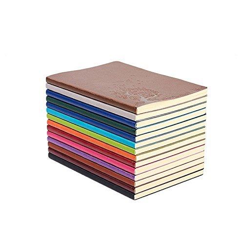 SaiBang A5 Größe Pu-leder Bunte Writing Journal Tagebuch Notebook Täglich Notizblock Niedlich Unter Liniertes Papier Travel Journal (4 stücke pro set) (Liniertes Papier Journal)
