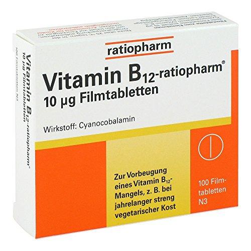 Vitamin B12 ratiopharm 10 100 stk - 10% Vitamin