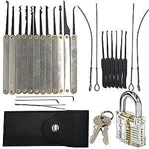 jteng professionelles set lockpicking nachschlie en 15 teiliges pick set dietriche set. Black Bedroom Furniture Sets. Home Design Ideas
