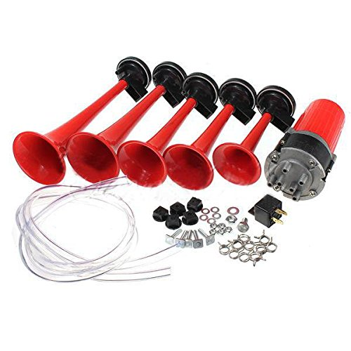 audew-12v-125db-voiture-5-trompes-dixie-klaxon-avertisseur-pneumatique-air-horn-compresseur-rouge