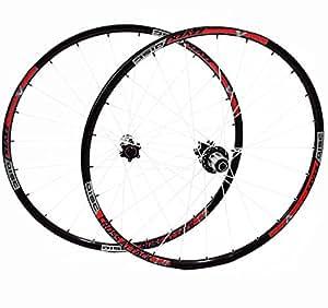 Corratec zZYZX de 2 roues noir/rouge 26 disque à trous avec 6 rayons blanc - 8–9-lot de 10