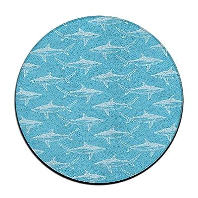 Shark Party Life Round Floor Rug Doormats For Dining Room Bedroom Kitchen Bathroom Balcony