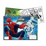 Cahier de dessin, livre de coloriage A4 + Stickers Spiderman...