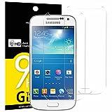Pack de 2 Verre Trempé Samsung Galaxy S4 MINI, NEWC Film Protection en Verre trempé écran Protecteur vitre - ANTI RAYURES - SANS BULLES D'AIR -Ultra Résistant Dureté 9H pour Galaxy S4 MINI