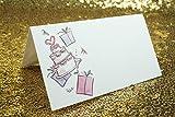 Tischkarten,Platzkarten 100 stück Perlweiss Blanko Namenskarten für Hochzeiten Geburtstage Taufe Familienfeiern Trauerfeiern Meetings Präsentationen 10 * 10cm - 6