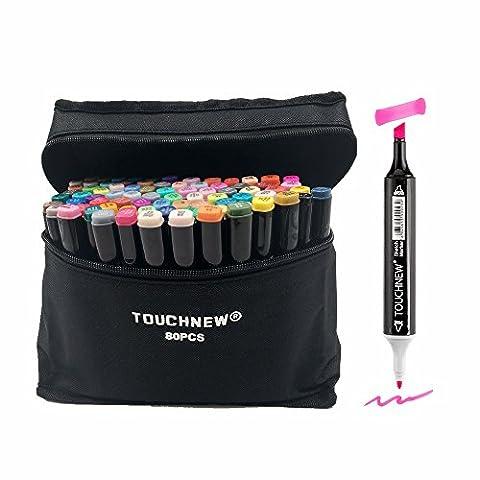 togood 80verschiedene Farben Art Sketch Twin Marker Stifte, Dual Tipps breiten Fine, Profi Marker Set für Färben (Künstler Kostüm-ideen)