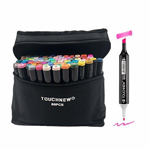 togood 80verschiedene Farben Art Sketch Twin Marker Stifte, Dual Tipps breiten Fine, Profi Marker Set für Färben Malerei (Keine 2 Bleistift Kostüm)