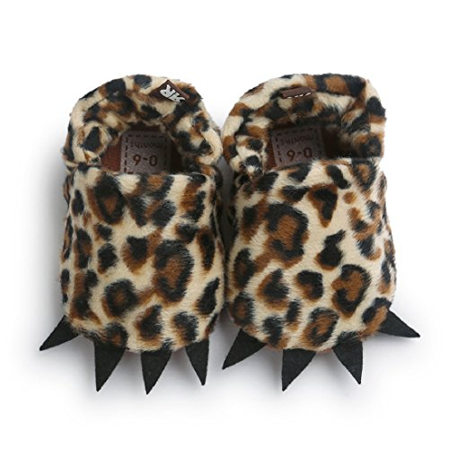 Saingace Baby Cotton Filles Garçons Chaussures Antidérapants Chaussures Souples (13(12-18mois), Rose) Café