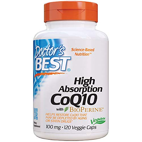 Doctor's Best   Coenzima Q10   con BioPerine   100 mg   120 capsule vegane   senza glutine   senza soia
