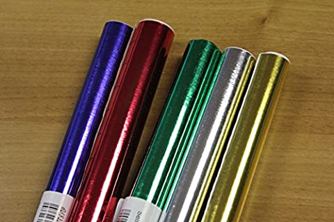 Self Adhesive Metallic Art Paper Rolls - (Red, Green, Blue, Gold, Silver) by Ryco