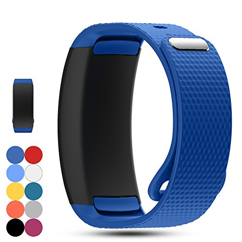 iFeeker Samsung Gear Fit2 PRO/Fit 2 SM-R360 Replacement Watch Band Strap Accessory Soft Silicone Wristband Strap Sport Band Bracelet for Samsung Gear Fit2 Pro and Fit 2 SM-R360 Smartwatch