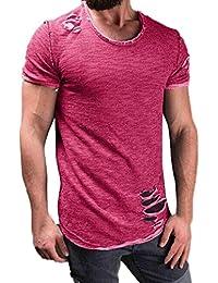 Camiseta de hombre,SHOBDW Loose muchacho más la camiseta de la impresión de manga corta talla grande de Bluse