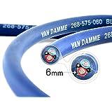 Câble d'haut-parleurs Twin-Axial (Bi-axial) Van Damme Séries Bleues Professionnel Grade (2 câbles centraux, bleu et rouge) 2 x 6.0mm 268-565-060 15 Meter / 15m