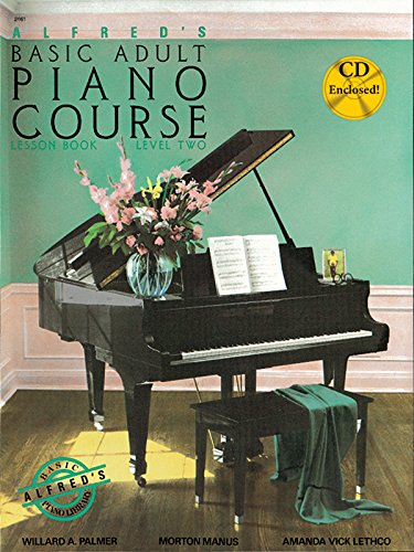 Alfred's Basic Adult Piano Course Lesson Book, Bk 2 (Book & CD)