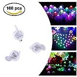 Decorazione della festa nuziale 100Pcs/lot LED rotonde Balloon Lights Flash Palla lampade ornamento di Natale (Colore : RGB)