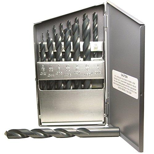 32 Hss Jobber Bit (Viking Bohren und Werkzeug 42030Typ 240schwarz Finish Bohrer, 118Grad Point HSS Set (15Stück))