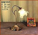 Graf von Gerlitzen Jugendstil Lampenglas Stand Steh Tisch Büro Glas Lampe Tischlampe GN191