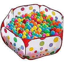 Kuuqa Piscina Tenda Piscina di Palline per Bambini Con Cerniera Rossa Deposito Borsa 3.28Ft (Palle non Incluso)