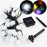 Outdoor Solar Fairy Lights Chain with 20/30/50 LED-lamps White or Multi-coloured (White, Size S: 20 LED Lights)