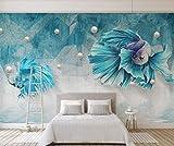 Tapeten Dunkelblaue Abstrakte Linien Guppy Fisch Schmuck Tapete Wandbild Benutzerdefinierte Fototapete