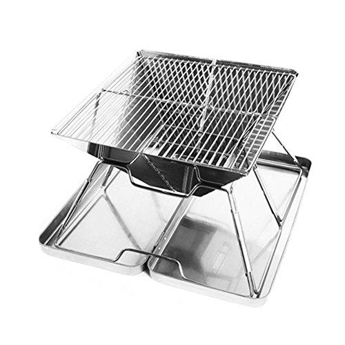 Gaeruite barbecue portatile charcoal grill in acciaio inox, grill, barbecue compatto pieghevole stufa portatile addensato griglia barbecue, stufe stufa a legna da ardere multi-person antracite forno