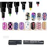 Fashion Nail Art Pen Diseño de Pintura Herramienta de dibujo para Gel UV Polaco Manicure 16colores disponibles (1Unidad)