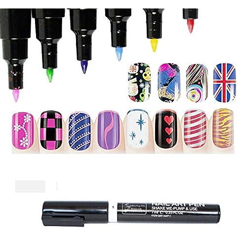 Fashion Nail Art Pen Diseño de Pintura Herramienta de dibujo para Gel UV Polaco Manicure 16colores disponibles