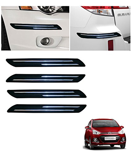autowheel car bumper protector with double chrome strip- hyundai grand i10 Autowheel Car Bumper Protector with Double Chrome Strip- Hyundai Grand i10 51R1u8RJFvL