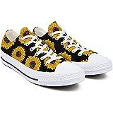Heart Wolf Sunflower Shoes,Sunflower Gifts,Sunflower Shoes Women,Low-Cut Laced Sunflower Shoes for Women Non-Slip Durable Sun