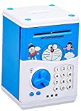 #10: shopjamke ATM for Kids Piggy Savings Bank with Electronic Lock with Music and Automatic Door Open, Battery Operated (Blue) (Yellow)