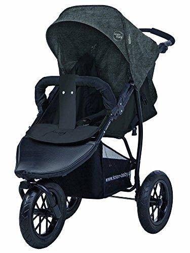 Carrito para niños de la marca Knorr-Baby, con tres ruedas y capota gris oscuro