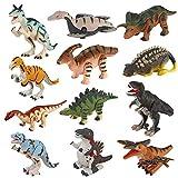 Dinosaurier Figuren Mini,Womdee Aufziehspielzeug,Dinosaurier Figuren Set,12 StüCk Welt Dinosaurier Kunststoff Dinosaurier Spielzeug Kindergeburtstag Party Dekoration,Dinosaurier Spielzeug Ab 4 Jahren