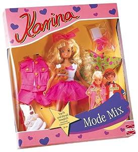 Karina 14808 Mode Mix Topsi - Muñeca con vestidos y accesorios (20 cm) importado de Alemania