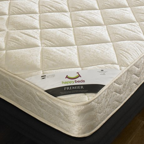 "Happy Beds Pickwick Pine 4'6"" Double Solid Pine Wood Bed With Luxury Spring Mattress"