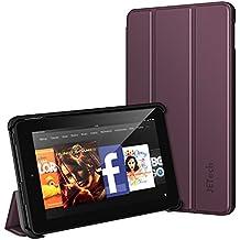 Fire 7 Funda, JETech Fire 7 Funda Carcasa Protección con Stand Función para Amazon Fire 7 Tablet (Modelo de 2015 5th Generación) (Púrpura)