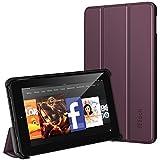 Fire 7 Hülle, JETech Schutzhülle Tasche Case Cover mit Standfunktion für Amazon Fire 7 Tablet (5th Generation - 2015 Modell) (Lila)