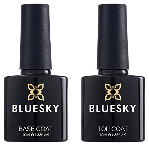 BLUESKY Top Coat und Base Coat Gel Nagellack, 10 ml