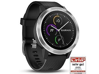 Garmin Vivoactive 3 Black & Stainless Siyah Akıllı Saat