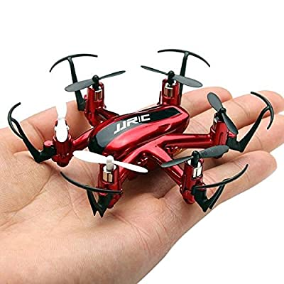 RC Drone Quadcopter OKPOW 2.4G 4CH 6-Axis Gyroscope Indoor Flight Headless Mode One Key Return Remote Control LED Light Quadrotor Christmas Kids Gift